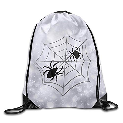 NA Halloween Spider Web Unisex Gym Drawstring Shoulder Bag Backpack String Bags