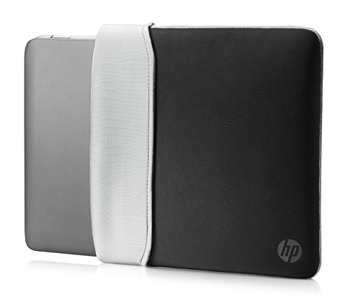 "HP Custodia Sleeve Reversibile in Neoprene per Notebook fino a 15.6"", Nero/Argento"