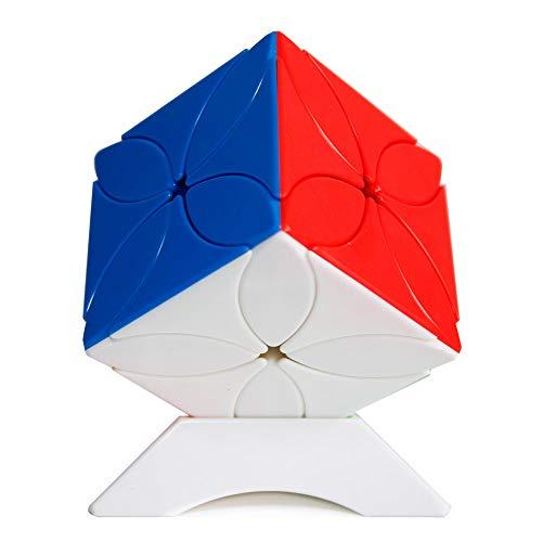 OJIN MoYu MOFANGJIAOSHI Cubing Classroom MFJS Meilong Four Leaf Clover Cube Cubing Classroom Twisty Puzzle Cube Rompecabezas Rompecabezas con un trípode de Cubo (Sin Etiqueta)