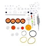 Creative-Idea 78Pcs Toy Car Gear Axle Belt Plastic Package Model Accessories Set DIY RC Airplane Robot Project Assorted