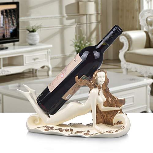 ThanGBIBO ideeën van de manier waarop oude wijzen opnieuw produceert, is de zwanenwijn-tandstang-woonkamer-wijn-flessenrek van hars. blauw