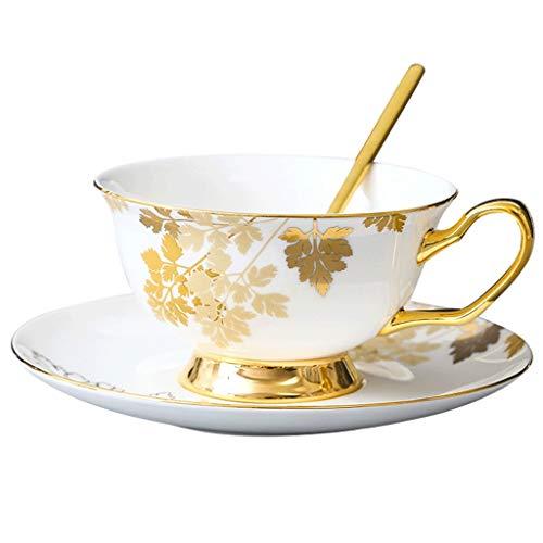 Tazas de cafe De lujo de cerámica Taza y platillo, de gama alta taza de té Inglés, hogar taza de café, conveniente for el té de la flor, Varios de Cafés Especiales Coffee Cup