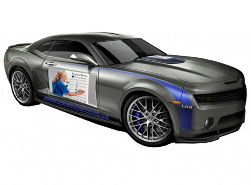 Magnetschilder Auto, Magnet-Autowerbung weiß matt, 0,8mm x 25cm x 60cm, 2 Stück