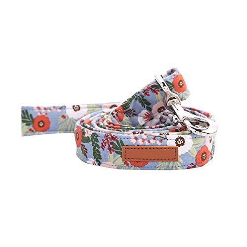 Solardream Dog Collar Hundehalsband und Leine Set Bowtie Getrennt Plastikschnalle Hund & Katze; Halskette und Hundeleine Haustier-Produkte Haus Cotton Floral, Leine, XXS