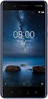 Nokia 8 Dual SIM - 64GB, 4GB RAM, 4G LTE, Tempered Blue