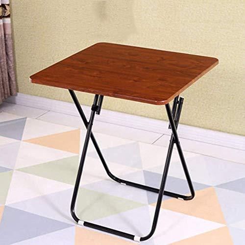 AOIWE Mesa plegable para el hogar, mesa de comedor, mesa de comedor, mesa cuadrada pequeña, mesa redonda grande (color: A, tamaño: mediano)