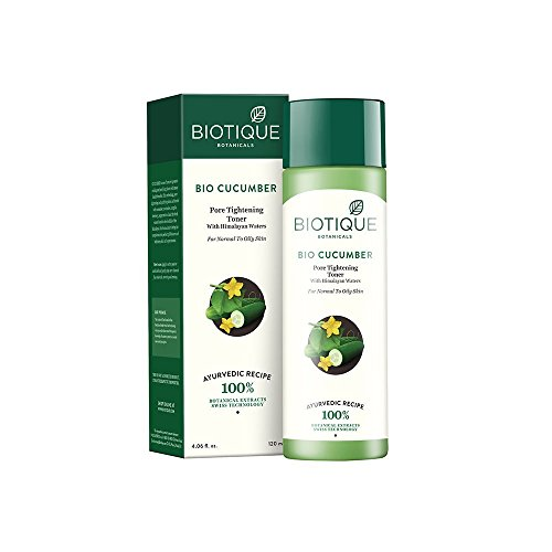 Biotique Cucumber Pore Tightning Freshne with Himalayan Waters for Normal to Skin, 120ml