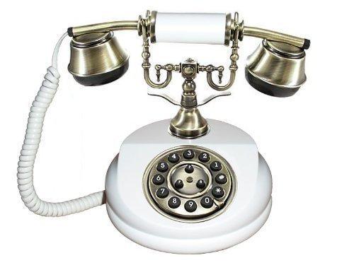 Nostalgie Telefon 1913 WEISS mit altem Rrrring Sound