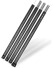 [ZAFIELD] タープポール アルミ テント ポール 【極太ポール】 直径3.3cm 高さ調整可能120~280cm