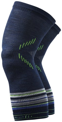 Smartwool Knee Warmer, Navy Stripe, S/M, SC602