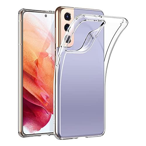 ESR Coque Compatible avec Samsung Galaxy S21 de 6,2 Pouces 5G, Coque Transparente Silicone en Polymère Mince Souple et Flexible pour Samsung S21, Séries Project Zero, Transparent