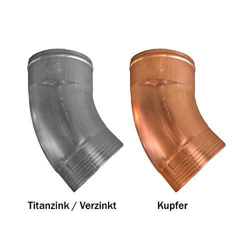 Regenrohrbogen 40° Titanzink in den Größen 60, 76, 80, 87 und 100 mm (groß)