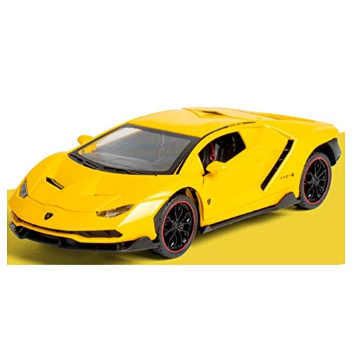 NMBE Car Model Collectible 1/24 DieCasts Electronic Car Modles Alloy Auto Mobile Vehicle Flashing Sports for Jeep SUV LP770 Super Car Children Toys Aluminum Alloy Car Model