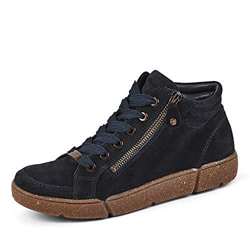 ARA Damen Rom Sneaker, Braun Posierer, blau, 39 EU