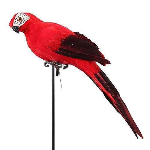 Pájaro Decorativo Simulación Loro Pluma Figuras Artificiales Modelo Animal En Miniatura Aves, Jardín De Escaparate Decoración Pájaro Espuma Pluma Loro Decoración Del Hogar 35 Cm