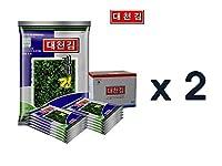 (2 box) Daecheon 韓国のロースト海藻スナックストリップ、軽く塩漬け味付け海苔[100%すべての自然](10パック) x 2 box (20パック) [並行輸入品]