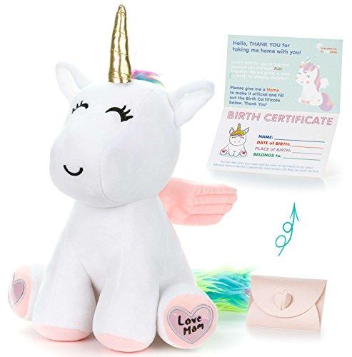 Unicorn Stuffed Animal - Cute Unicorn...