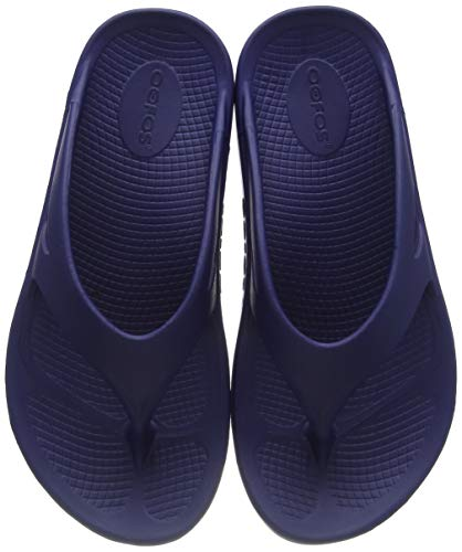 OOFOS Unisex Original Thong flip flop , Navy, 8 M US Women / 6 M US Men's