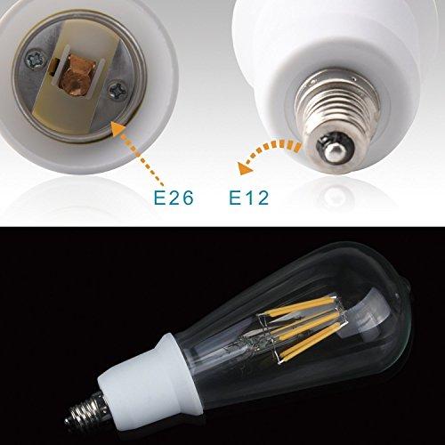 (5pcs) YiLighting - Candelabra to Standard Socket Reducer Adapter Converter (E12 to E26/E27 Adapter)