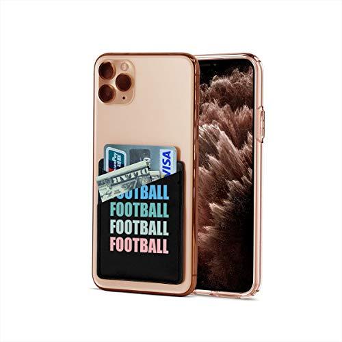 Funda para tarjetas de crédito, ultradelgada, con diseño de balón de fútbol para iPhone y Android, para tarjetas de visita, tarjetero y clip para dinero
