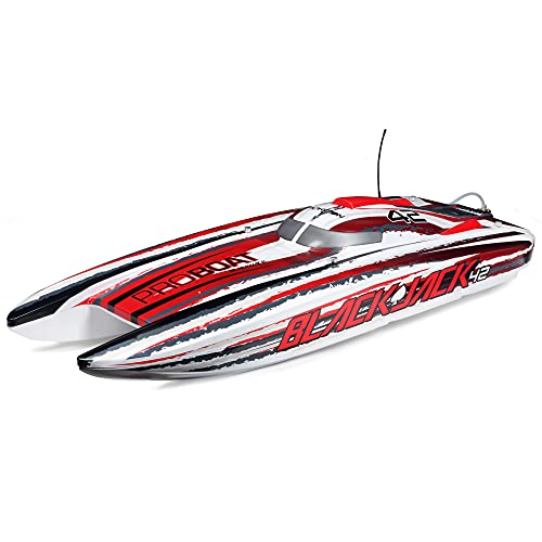 Pro Boat RC Blackjack 42' 8S Brushless Catamaran RTR(Battery and Charger Not Included): White/Red, PRB08043T2