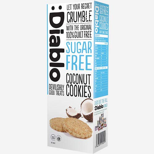 Diablo Coconut Cookies (zuckerfrei) Coconut 1 packung (9 kekse)