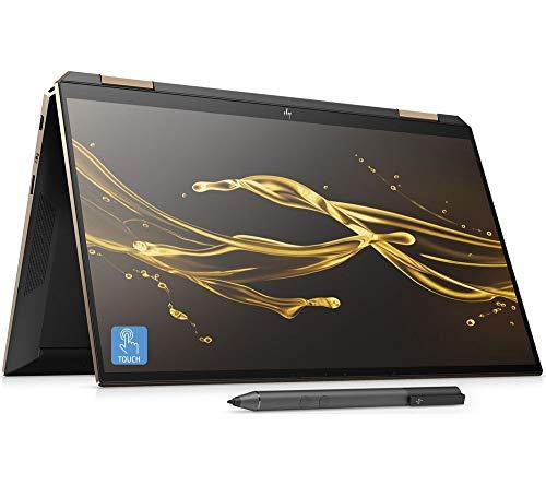 "HP Spectre x360 13-aw0054na Convertible Laptop with HP Tilt Pen Stylus, Intel Core i7 Processor, 16GB RAM, 1TB SSD + 32GB Intel Optane Memory, 13.3"" 4K Ultra HD, Nightfall Black"