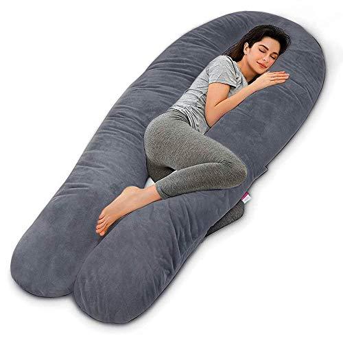 Wndy's Dream Almohada de Maternidad Premium XXL en Forma de U Almohada de Maternidad Almohada para el Cuerpo voor slaap, zijslaapkussen