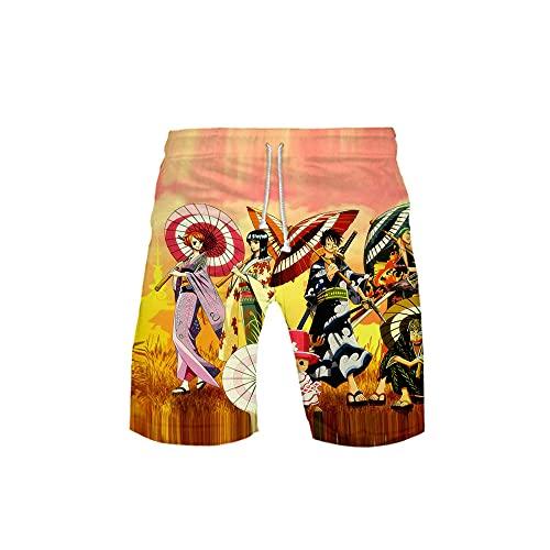yrxh Pantalones cortos Anime Beach Board, para hombre, para playa, deporte, tobogán, verano, 4_S.