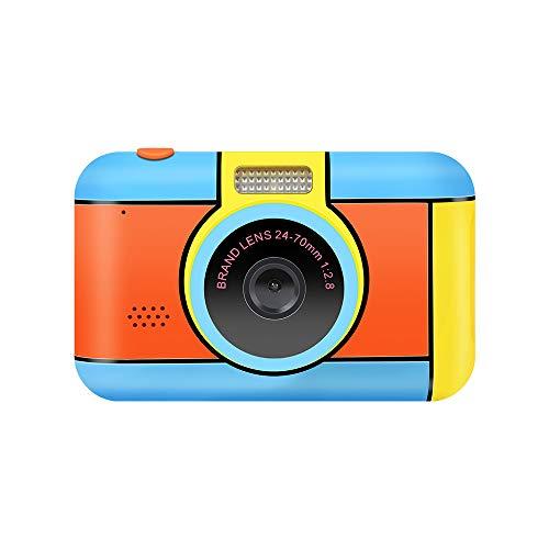 ClickingDYS D7 子ども用デジタルカメラ 子供プレゼント 前後2800万内挿画素 2.4インチIPS画面 写真 動画 連写 顔認識機能 タイマー撮影 OTGモジュールを搭載 多機能 子供カメラ (32GB容量MicroSDカード付き,ブルー)