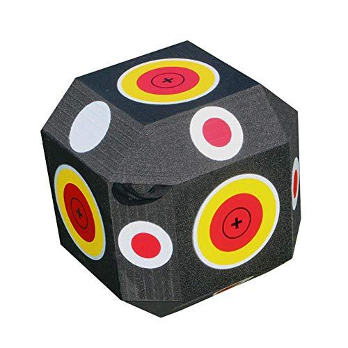 lossomly Würfel Zielscheibe Für Bogenschießen 18-seitiges 3D Bogenschieß Ziel Großes Schaum Ziel Mit Praktischem Tragegriff Für Spiele
