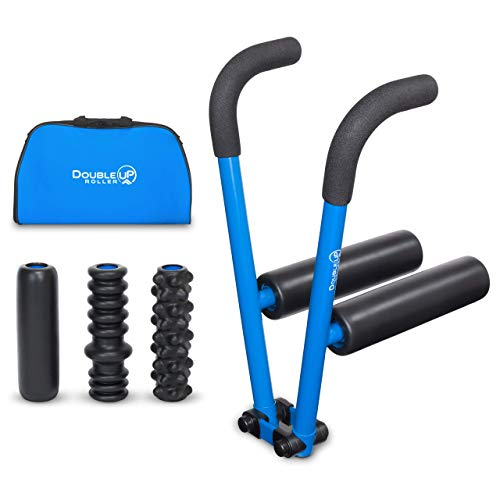DoubleUP Roller - Faster and Easier Muscle Relief with Precise Pressure Control - Includes 5 Quick-Change Massage Rollers