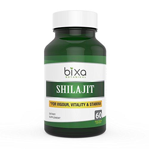 Shilajit Extract Capsules with fulvic Acid (Mineral Pitch/Asphaltum Extract), 60 Veg Capsules (450 mg) - bixa BOTANICAL