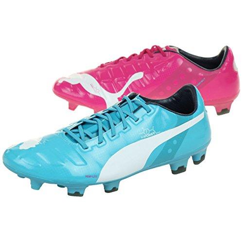 PUMA Evopower 1 Tricks FG, Botas de fútbol Hombre, Multicolor Beetroot Purple Bluebird White 01, 46 EU
