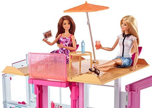 Maison de Luxe Barbie 3 Étages Rose - 5