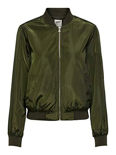 Only ONLMARBELLA Bomber Chaqueta, Color verde, 44 para Mujer