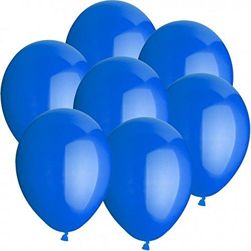 doriantrade 50 Luftballons Ø 25 cm Farbe frei wählbar Ballons Helium Luftballon (Blau)