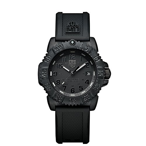 Luminox Rubber Quartz Black Dial Women