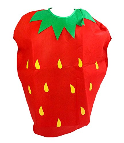Rouge fraise Unisexe School Play Costume Party Enfants Vêtements Fruits Ensemble