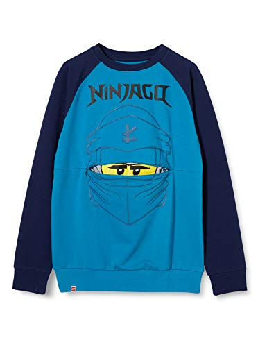 LEGO Jungen MW Ninjago Sweatshirt, 763 Sea Turquise, 122