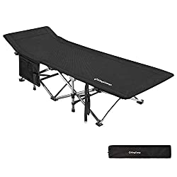 Tall Persons Camp Cot With Headrest