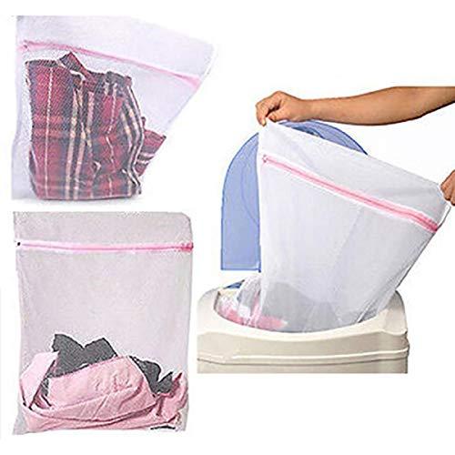 Saco Para Lavar Roupa Delicada na Máquina Kit com 3 Unidades 60x50cm Grande