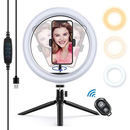 2. Yoozon LED Lumière Anneau avec Trépied, Ring Light avec Télécommande Bluetooth