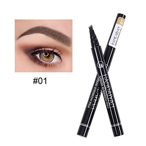 ZNXHNDSH Liquid lápiz de ceja Impermeable de Larga duración 4 Tenedor Microblading Pluma de la ceja del Tatuaje Crayon sourcil Wunderbrow Pen Tint Makeup22 (Color : 1)