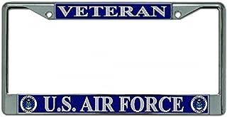 U.S. Air Force Veteran Chrome License Plate Frame
