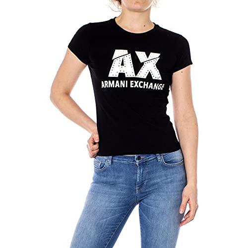 Armani Exchange The Movie Camiseta, Negro (Black 1200), Medium para Mujer