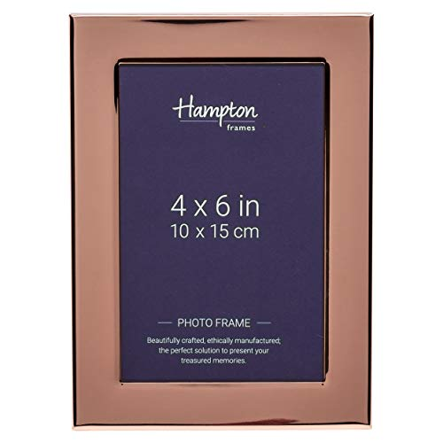 Hampton Frames WOBURN 24mm breed gravable foto frame in koper of zilver plaat