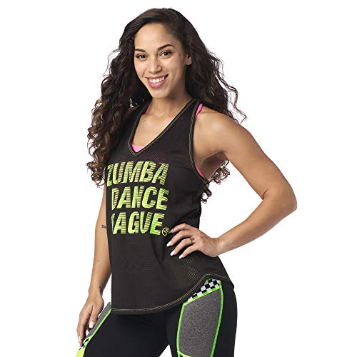 Zumba Loose Fit Dance Workout Mesh Top Fitness Athletic Gym Tank Top for Women