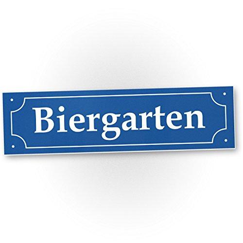 DankeDir! Biergarten Straßenschild (40 x 10 cm) - Party Deko Oktoberfest Party - Motto Party Wiesn/Bayern, Geschenkidee Geburtstagsgeschenk Bester Freund - Freundin, Lustiges/originelles Geschenk