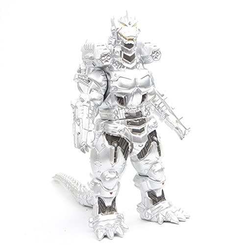 Serie Monster de Godzilla Movie: MECHAGODZILLA MODELO (NEGRO Y SILULADO) Set Godzilla CLORURO DE POLIVINILO Figura móvil Decoración de escritorio Muñeca Mejores regalos for adultos ( Color : Silver )